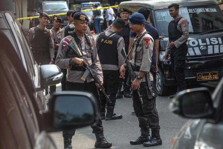 Zelfmoordaanslag op politiebureau Indonesië