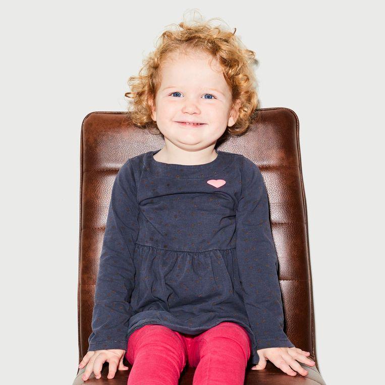 De 2-jarige Dirkje heeft SMA. Beeld Valentina Vos