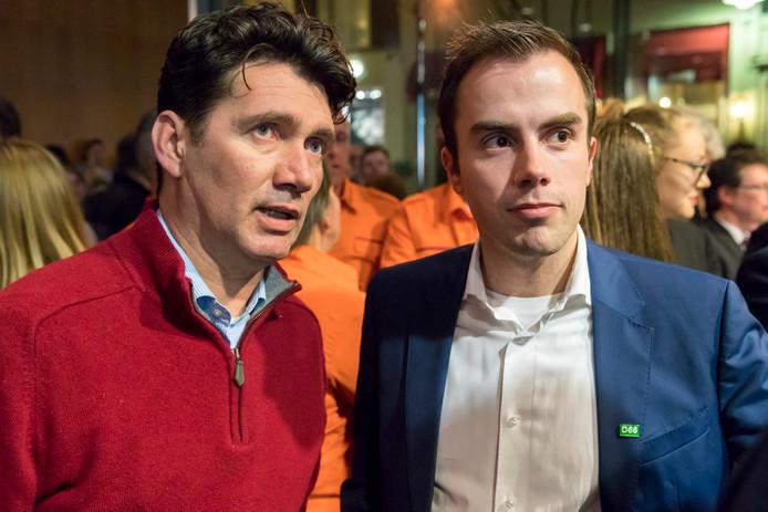 Wethouder  Eric Logister (links) en wethouderskandidaat Mike van der Geld van D66.