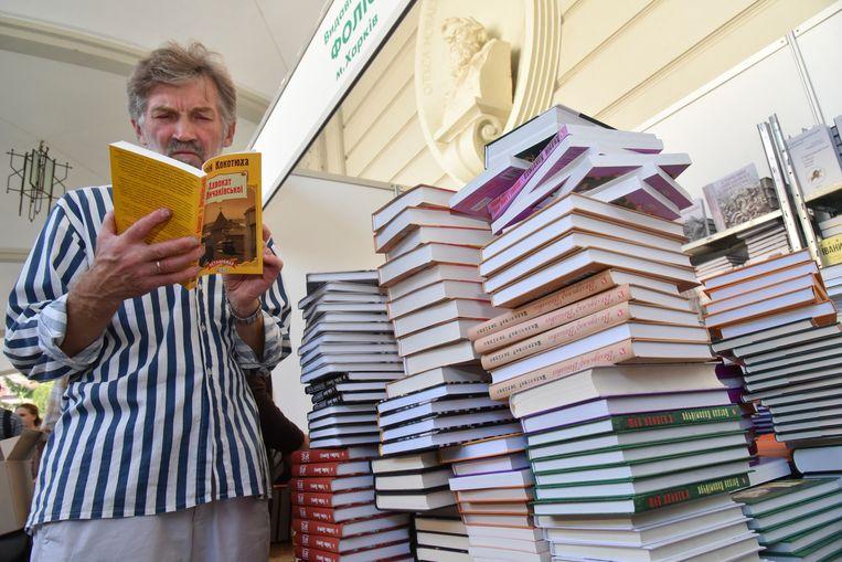 Het verbod op op Russische cultuurproducten valt samen met het jaarlijkse literatuurfestival in Lviv. Beeld AP