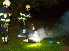 Brandweer rukt uit om smeulende doeken te blussen in Boxtel