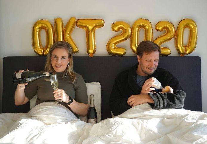 Gerard Dronkers en Carin Damen verwachten in oktober hun eerste kind.