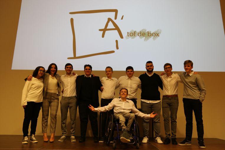 De leerlingen stelden hun mini-onderneming voor in het Henri Van Daelecentrum.