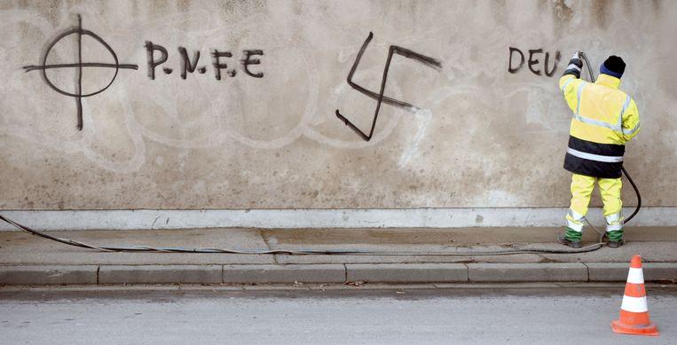 Sinds de Tweede Wereldoorlog was het antisemitisme een betrekkelijk marginaal verschijnsel. Geleidelijk aan is daarin verandering gekomen. Beeld AFP