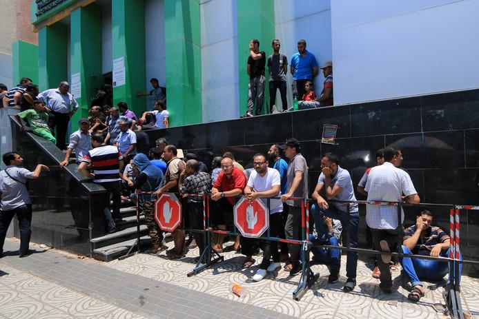File d'attente à Gaza, le 17 juin.