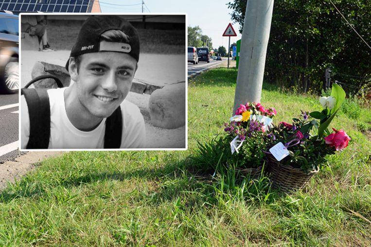 De Stationstraat in Haacht waar de 16-jarige Noah Mortier dodelijk werd aangereden.