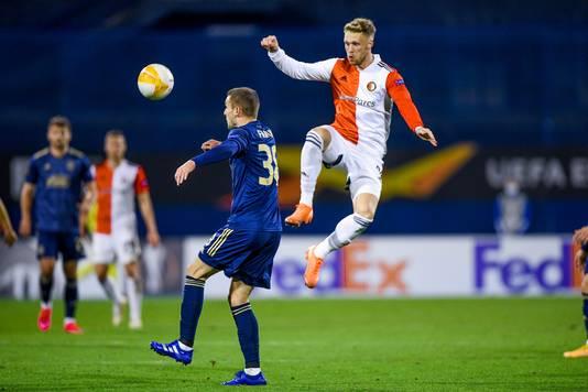 Nicolai Jørgensen is op de weg terug. Tegen Dinamo Zagreb viel de spits in.