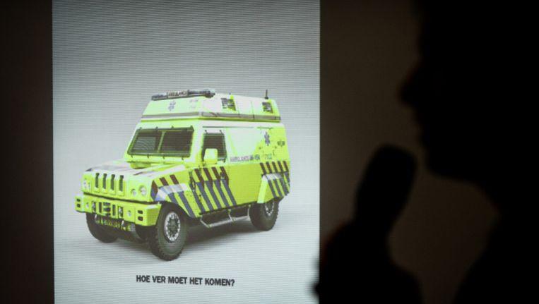 Presentatie van de campagne van Sire, over geweld tegen hulpverleners, in december 2011. Beeld ANP