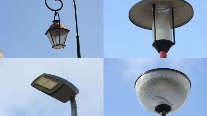 Hier brandt de lamp: heb jij de vier verschillende verlichtingspalen in deze korte straat al gespot?