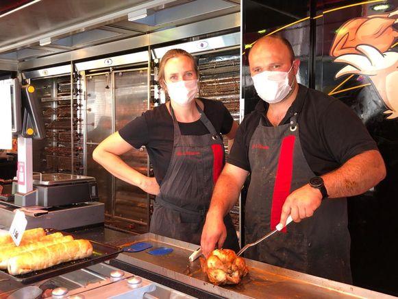 An en Maarten waren blij om terug op de markt te staan.