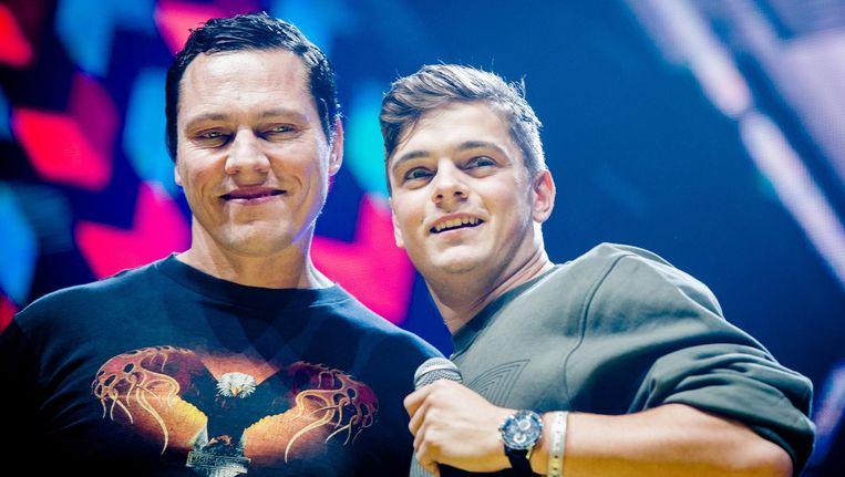 Tiësto en Martin Garrix weten al hoe ze Koningsdag vieren. Beeld anp