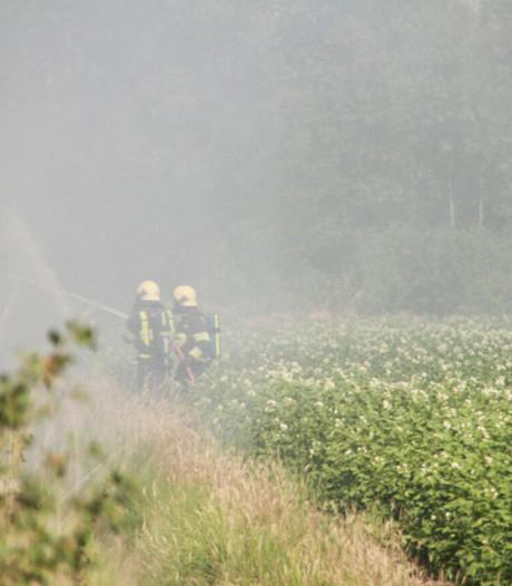 Peelbrand in Liessel laait weer op