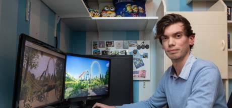 Robin bouwde Avonturenpark Hellendoorn na in Rollercoaster Tycoon: 'Kostte 1,5 jaar'