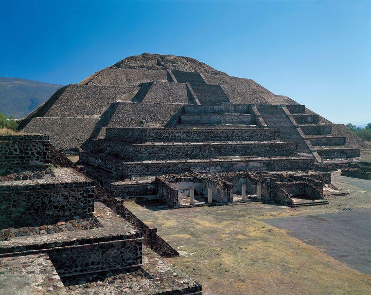 De Teotihuacan-piramide in Mexico. Beeld De Agostini via Getty Images
