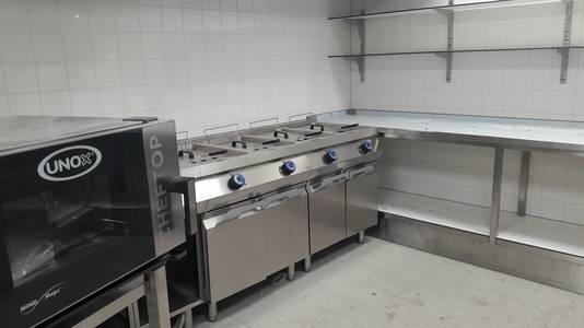 Een deel van de keuken.