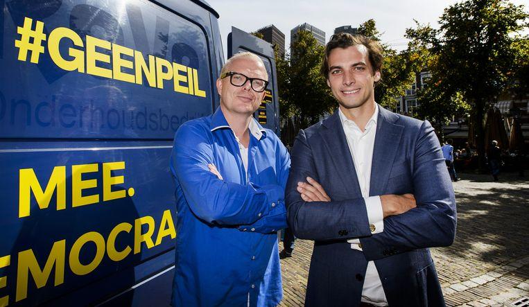 Jan Roos (links) en Thierry Baudet. Beeld null