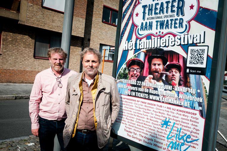 Kaaimannen Peter De Ridder en Patrick Poppe stellen hun nieuwe editie van Theater aan Twater voor.