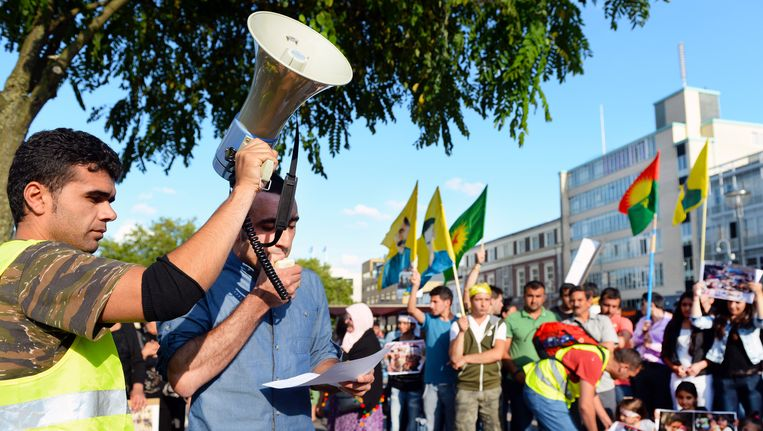 Vergelijkbare demonstratie in Arnhem Beeld anp