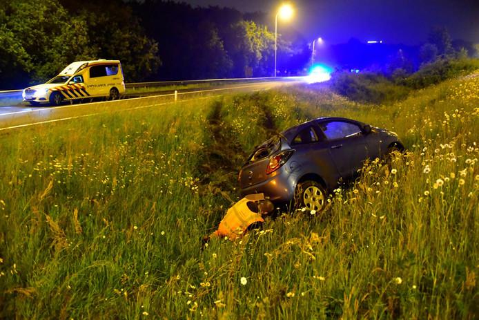 De auto raakte door de klap total loss.
