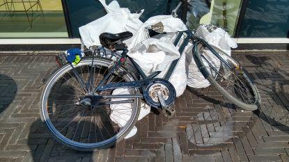 Zwerfvuilruimers halen sigarettenpeuken, drankblikjes en... fiets uit graskant