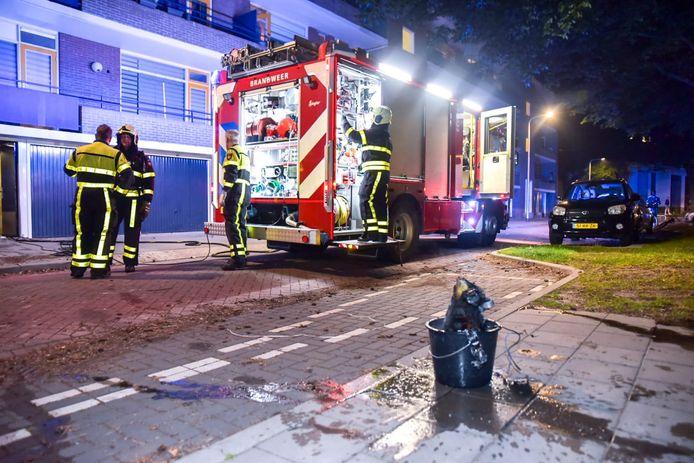 Brand in Tilburg.