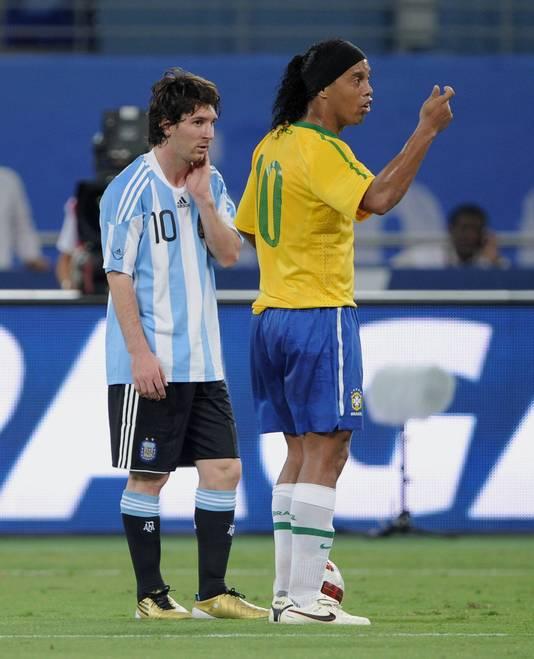 Ronaldinho en Lionel Messi.