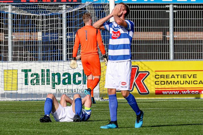Ontgoocheling bij Spakenburg na de 2-2.