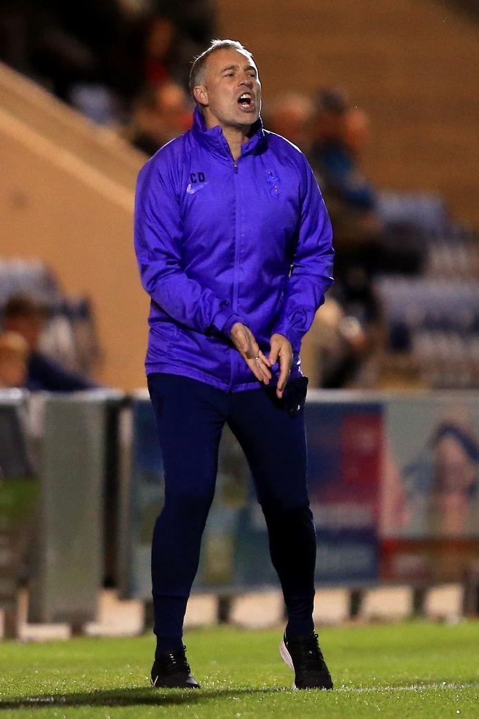 Wayne Burnett, de coach van Tottenham Hotspur onder 21.