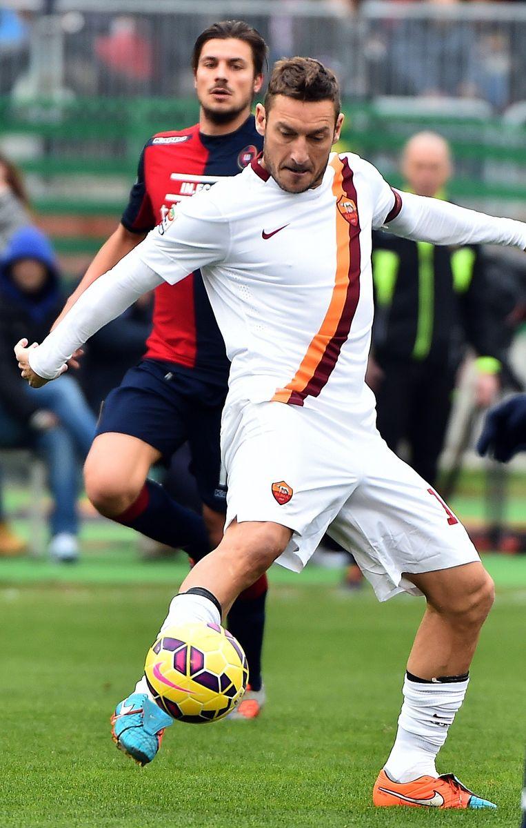 Francesco Totti, spits van Roma Beeld afp