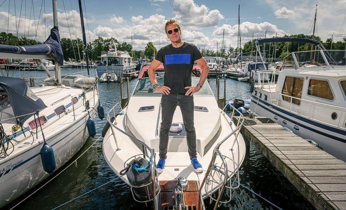 Frank van der Meulen: lekker varen met de nieuwe boot.