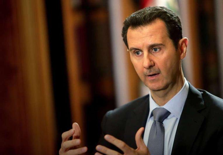 De Syrische president Bashar al-Assad. Beeld AFP