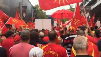 Naamsverandering Macedonië: duizenden manifestanten in opstand