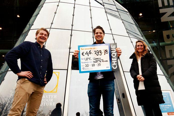 Een groep van acht Utrechtse studenten fietste in juli in 3,5 week 2750 kilometer om geld in te zamelen voor onderzoek naar de preventie van hart- en vaatziekten.