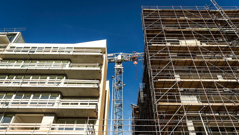 Een nieuwbouwproject in Noord. Beeld ANP