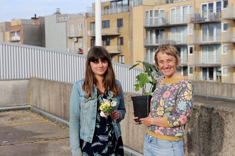Gillian Lowyck en Lore Provoost namen het initiatief voor Torenoogst