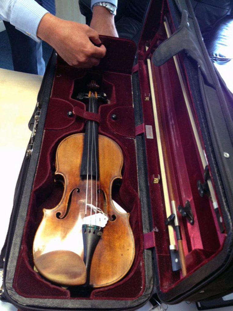 De in 2013 gestolen viool. Beeld epa
