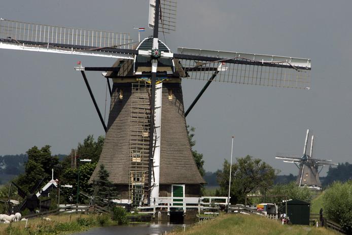 De molenviergang in Aarlanderveen