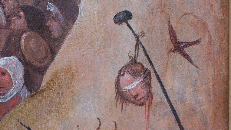 Detail uit Het Hooiwagen-triptiek van Jheronimus Bosch Beeld null