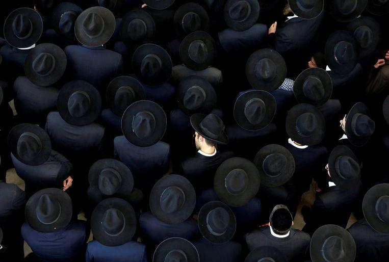 Ultra-Orthodoxe mannen in Jeruzalem. Foto ter illustratie.