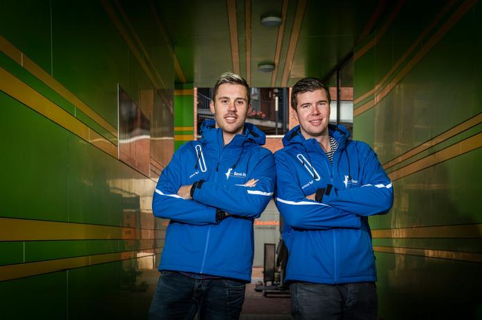 Bevo spelers Niek Jordens en Nick de Kuyper