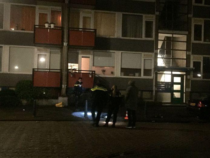 Agenten zochten onmiddellijk naar sporen op de Socratesstraat.