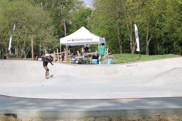 Het skatepark op de Bosveldsite werd woensdag ingehuldigd.